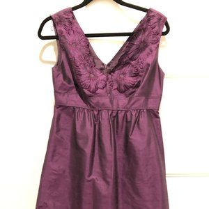 Purple Silk Adrianna Papell Party Dress